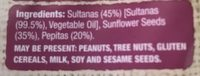 Seeds and sultanans - Ingredients