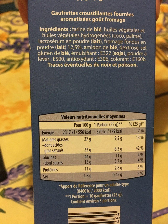 Gaufrettes fourrées - Informations nutritionnelles - fr