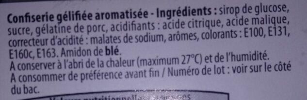Mix acide - Ingrediënten