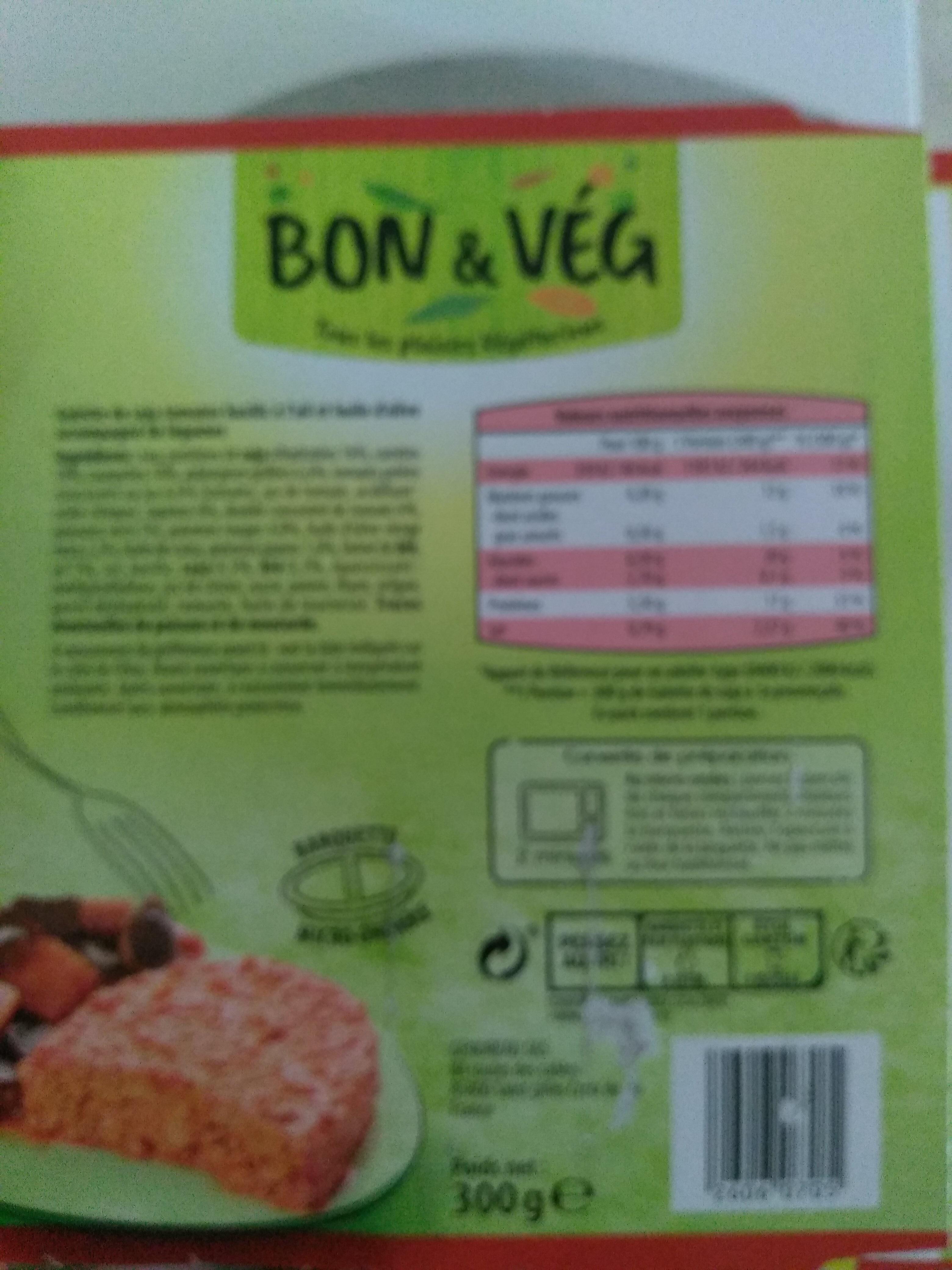 Galette de soja et légumes à la provençale - Product