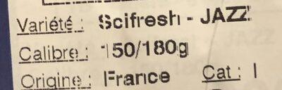 Pommes Jazz - Ingrédients - fr