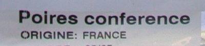 Poires Conférence - Ingrédients - fr