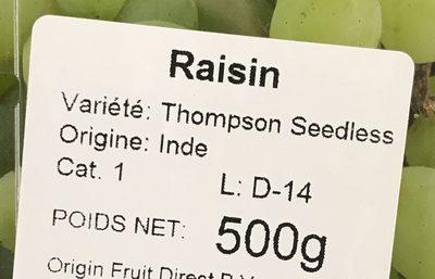 Raisin - Ingrédients - fr