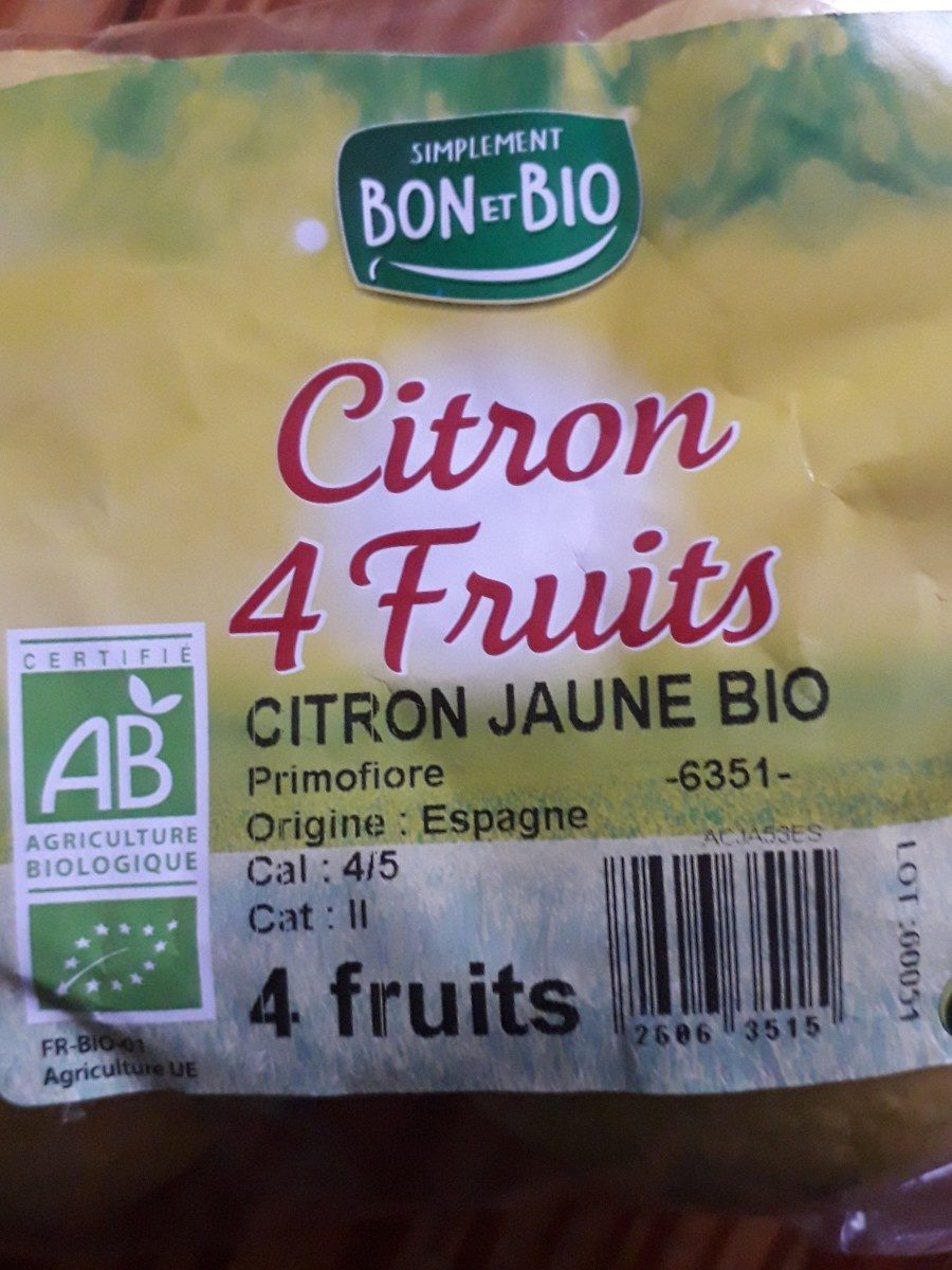 Citron 4 fruits - Ingrédients - fr