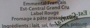Label Rouge - Emmental Français Grand Cru - Ingrédients - fr