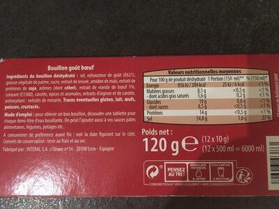Bouillon gout boeuf - Ingredients