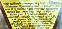 Tomme de Savoie IGP (29% MG) - Nutrition facts - fr