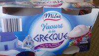 Yaourt à la Grecque sur lit de Mûre, sur lit de Framboise - Produit