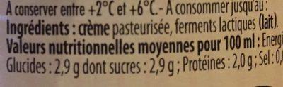 Crème Fraîche d'Isigny - Ingrédients
