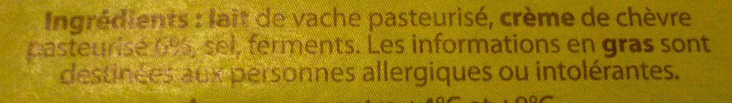 Bâton de fromage typé - Ingredients - fr