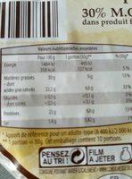 Tommette des alpes - Nutrition facts - fr