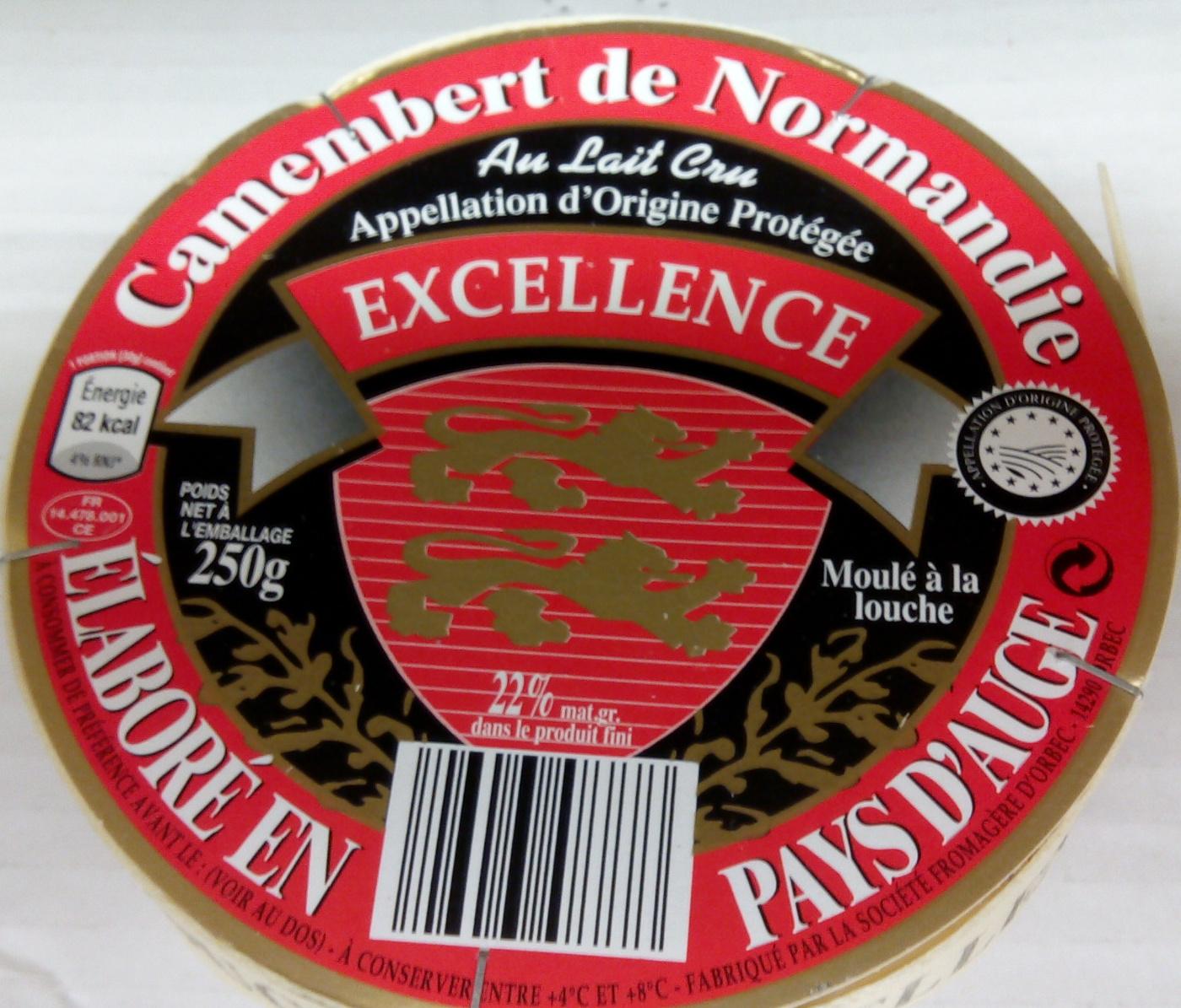 Camembert de Normandie AOP, Au Lait Cru (22 % MG) - Produto - fr