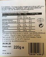 Pur brebis - Informations nutritionnelles - fr