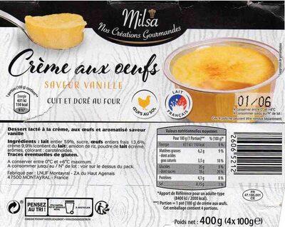 Crème aux Oeufs Saveur Vanille - Produit - fr