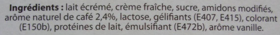 Liégeois au Café - Ingredients - fr