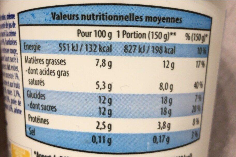 Yaourt aux Fruits Mixés - Nutrition facts - fr
