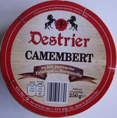 Camembert, au lait pasteurisé (21 % MG) - Produit - fr