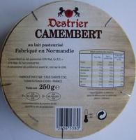 Camembert, au lait pasteurisé (21 % MG) - Ingrédients - fr