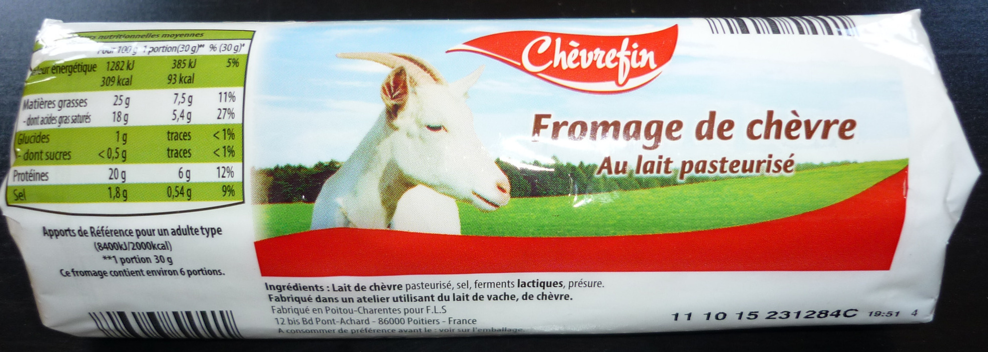 Fromage de chèvre (25% MG) - Product - fr