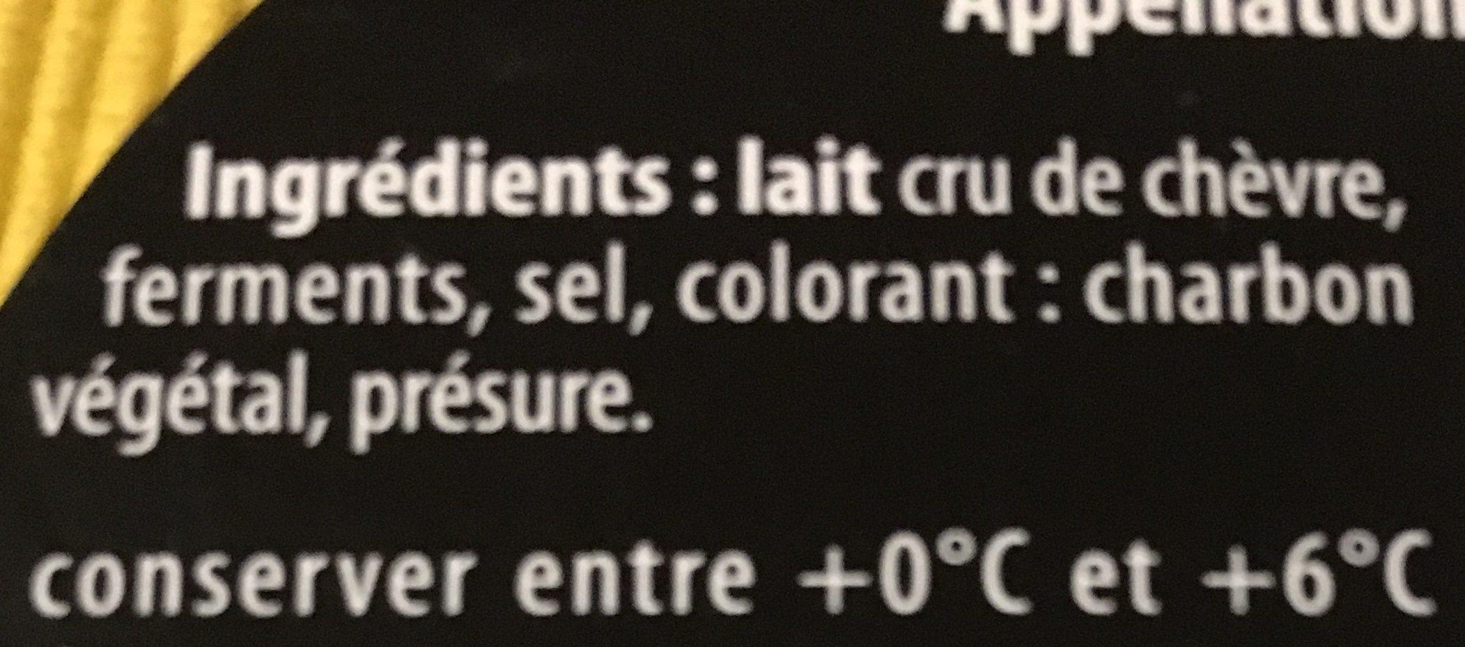 Fromage de chèvre au lait cru - Ingrédients - fr