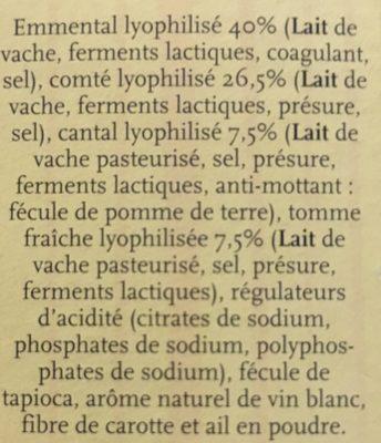 La fondue - Ingrédients