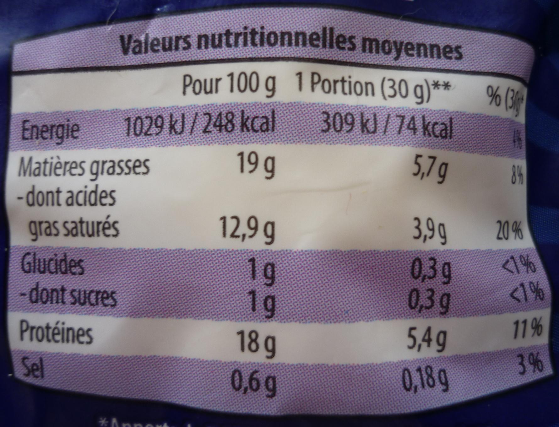 Mozzarella - Voedingswaarden