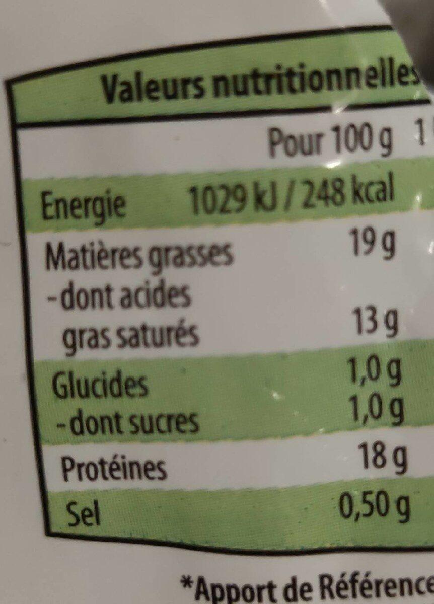 Mozzarella - Informations nutritionnelles - fr