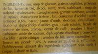 Tiramisu (2 pots) - Ingrediënten - fr