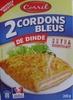 2 Cordons Bleus de Dinde extra croustillant - Product