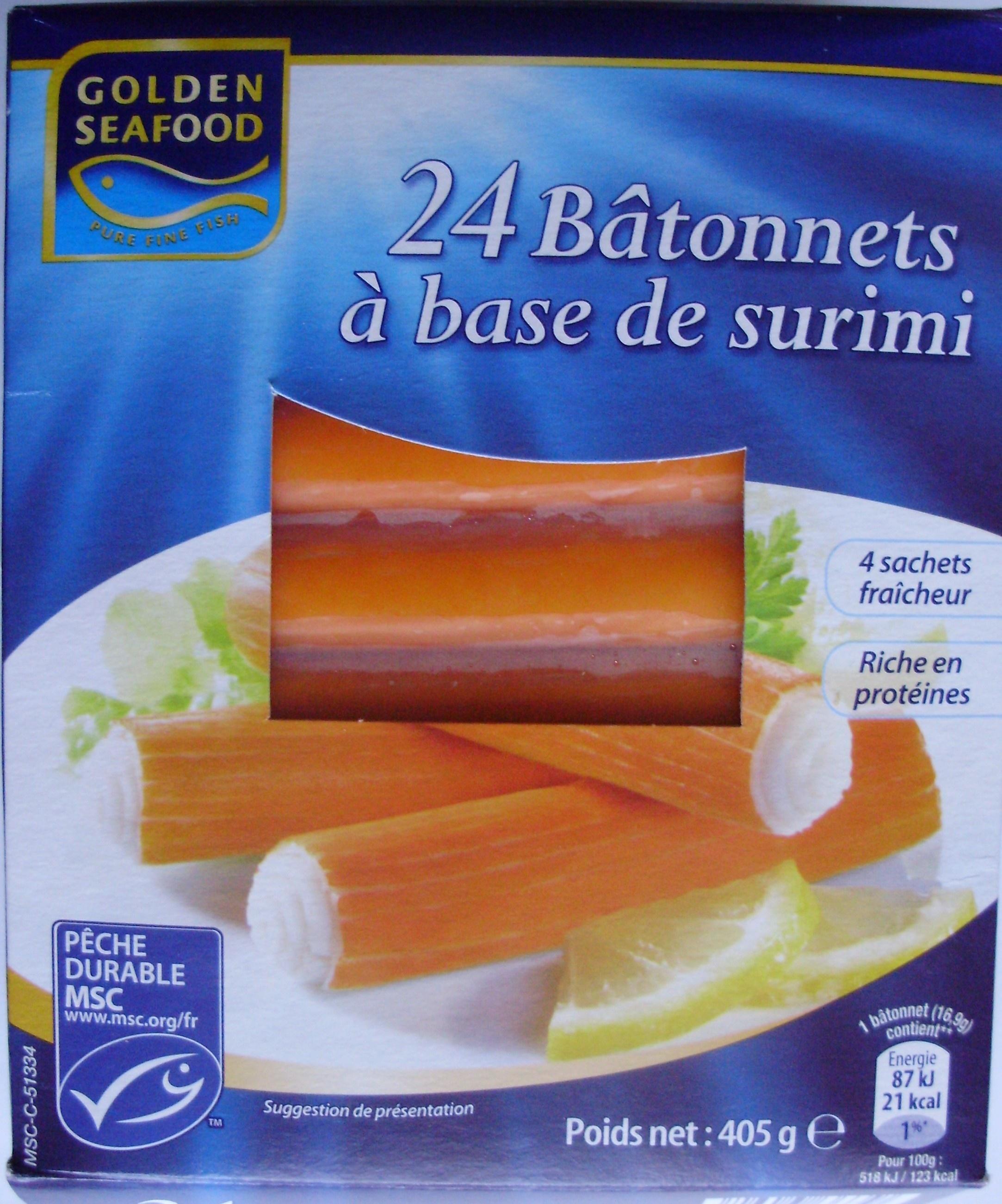 24 Bâtonnets à base de surimi (4 sachets fraîcheur) - Product - fr