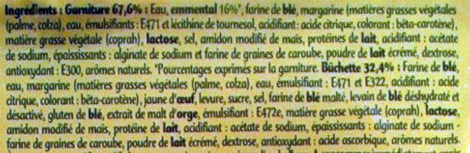 Bûchettes au Fromage - Ingredients - fr