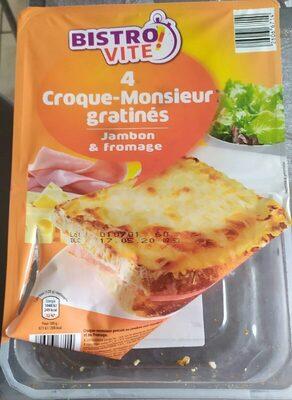 Croque-monsieur gratinés jambon fromage - Produit - fr