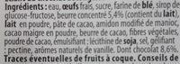 Éclairs au chocolat - Ingrédients - fr