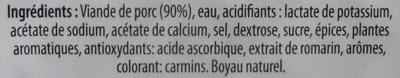 saucisse de toulouse - Ingredients