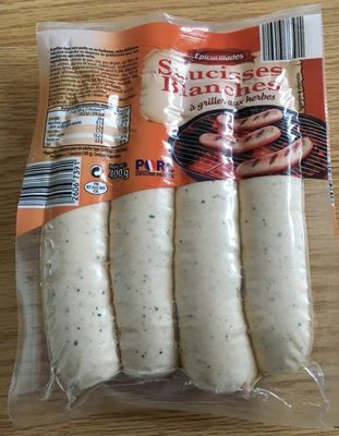 Saucisses blanches à griller aux herbes - Produit - fr