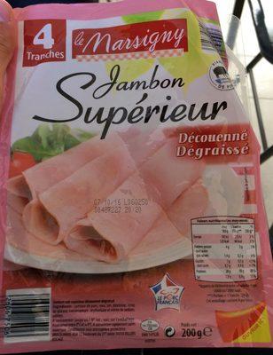 Jambon Supérieur Découenné Dégraissé (4 tranches) - Produit - fr