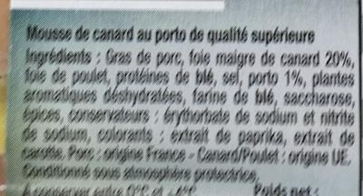Mousse de Canard au Porto - Ingredients