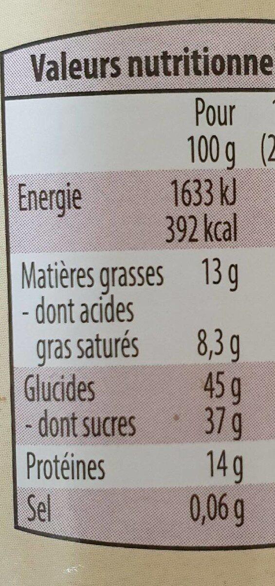 Chocolat en poudre BIO - Informations nutritionnelles - fr