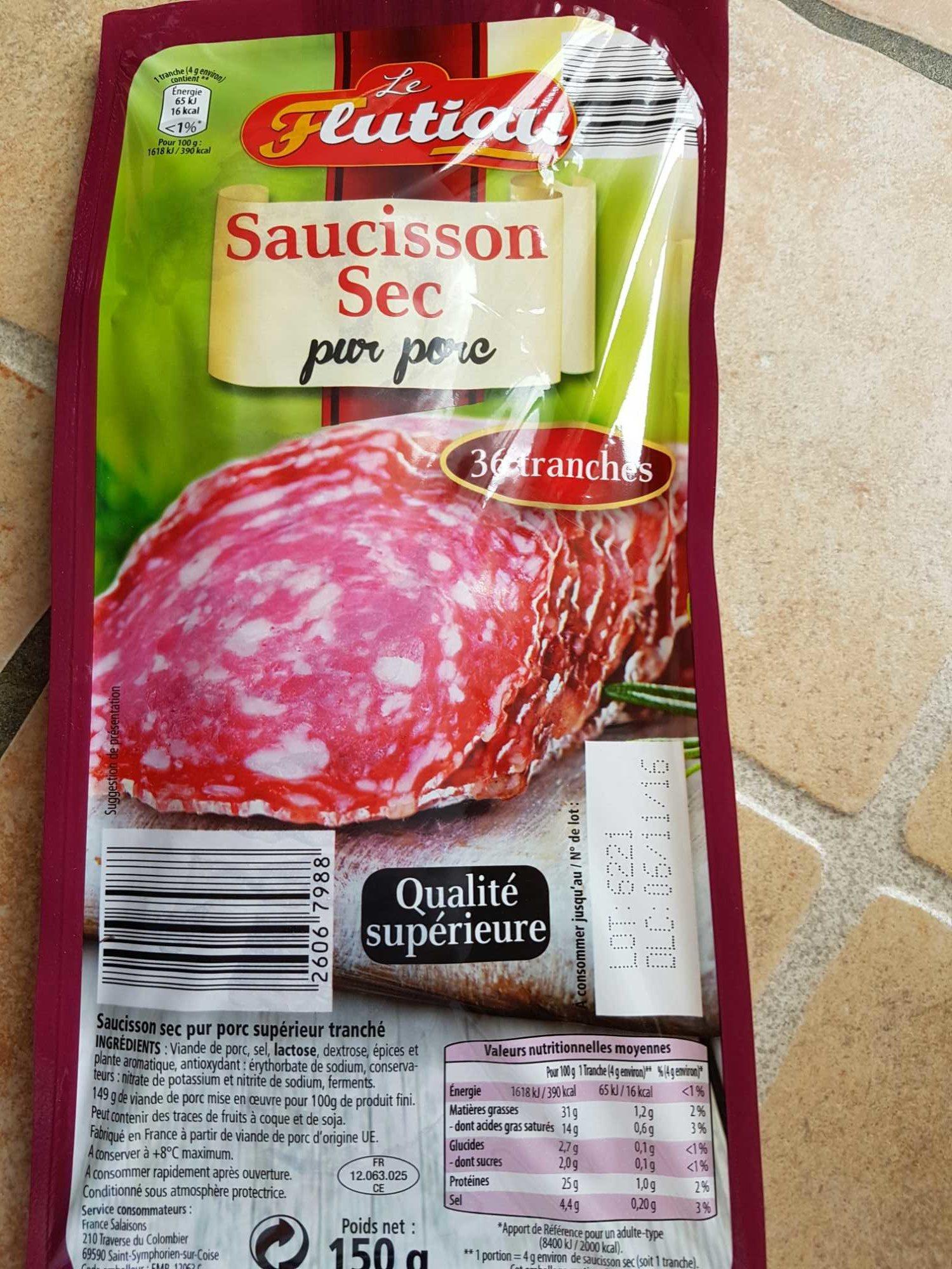 Saucisson Sec Pur Porc - Produit - fr