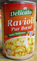 Ravioli Pur Bœuf (Sauce Italienne) - Produit - fr