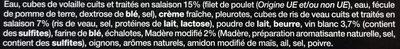 Cassolettes de volaile et Riz de Veai - Ingrédients - fr