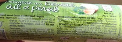 Spécialité au beurre, ail et persil - Ingrediënten - fr