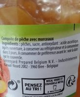 compote de pêches - Ingredients - fr