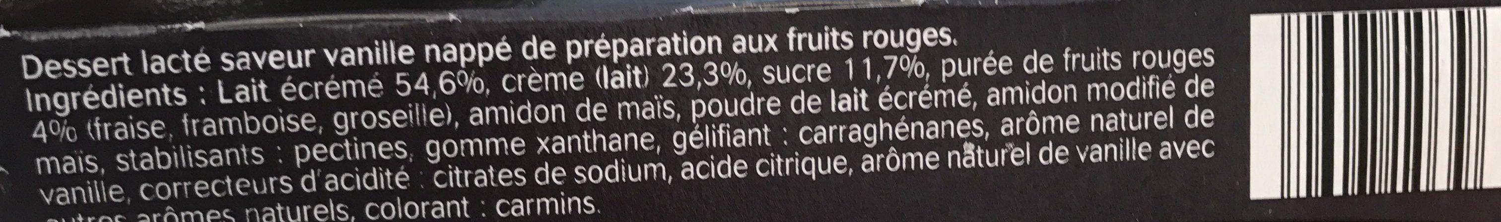 Panna cotta - Ingredienti - fr