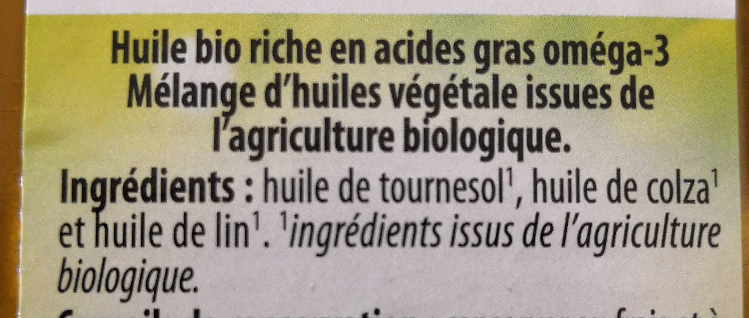 Huile pour Salade Riche en Oméga 3 - Ingrédients - fr