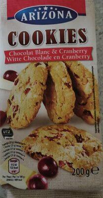 Cookies chocolat blanc cranberry - Product - fr