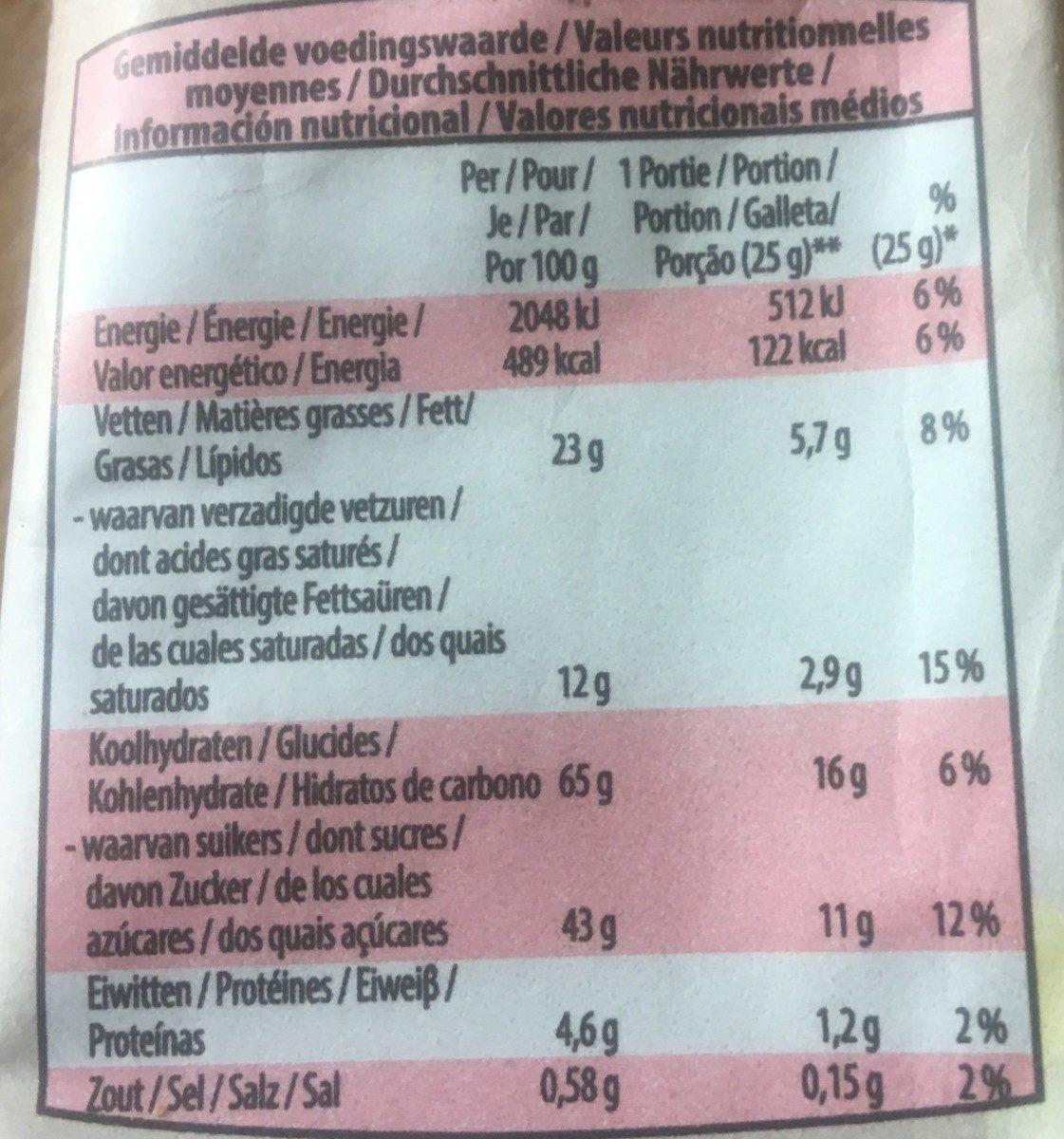 Cookies Aux 3 chocolats - Voedingswaarden
