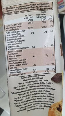 Cookies chocolat blanc cranberry - Nutrition facts - fr