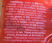 10 pains au chocolat - Ingrédients