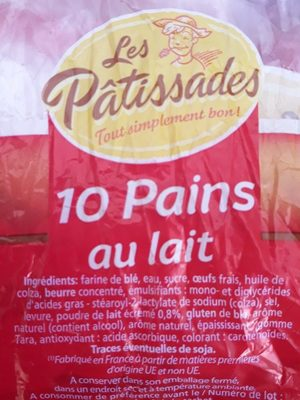10 Pains au Lait (Extra moelleux) - Ingredients